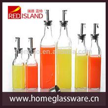 fancy glass oil bottle,glass bottle for cooking oil and vinegar