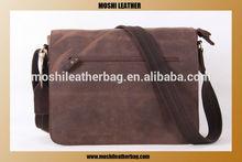 13'' Antique Genuine Leather Messenger Bag for Men