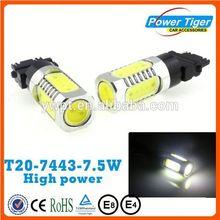 super bright COB 12V car led lights t20 w21/5w 7443