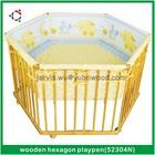 Wooden Baby playpen, Hexagon playpen