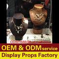 Maniquí busto de madera, exhibición de la joyería accesorios para la venta