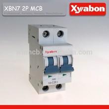 XBN7 2p mini mcb L7 mini circuit breaker