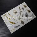 custom corpo temporário de ouro e prata folha metálica flash tatuagens