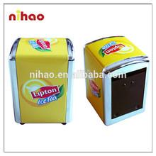 Yellow Lipton Napkin Dispenser