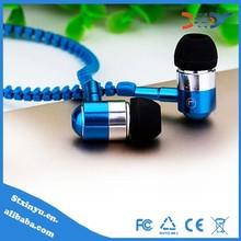 2015 Fashion in-ear zipper earphone for zip earphone wholesale