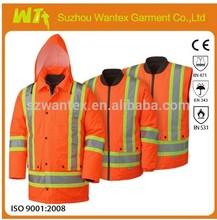 CSA Z96-09 Hi Visibility railway Winter suit FR 7 in 1 Orange waterproof clothing Safety workwear