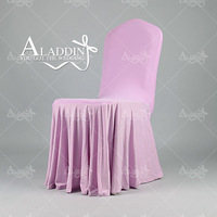 professional manufacturer providing fancy pleated chair covers for wedding decoration
