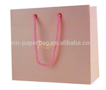 Custom printed pink coated paper gift handle bag