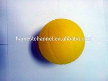 Yellow high quality bouncing pu ball