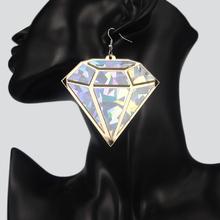 Africa Earring Jewelry Big Colorful Diamond Earring