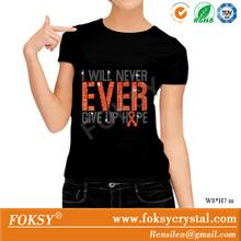 production of orange flashing fonts heat transfer images t-shirt