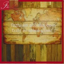 Vintage Wood World Map Wall Hanging Decoration