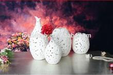 Antique ceramic vases,white pottery vase craft