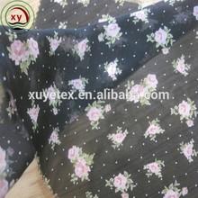 polyester chiffon fabric printed dress material patterns