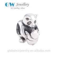 Love Mother Cute Panda Charm Silver 925 European Beads Ebay Sterling Silver Jewelry
