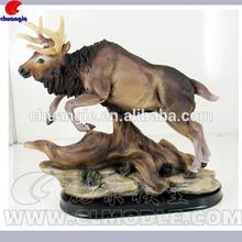 Resin Buffalo Figurine , Buffalo Statue , Animal Sculpture Decor