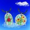 Multi Color Change Classical Women Shell Mood Pendant Necklace