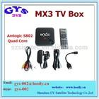 New H.265 Amlogic S802 Quad Core Google Android 4.4 Smart TV Box XBMC mx3 android mxIII tv box