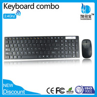 ISO9001 factory waterproof wireless mouse keyboard with trade assurance