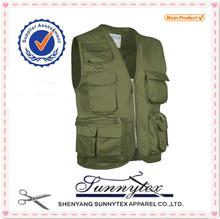 Sunnytex Hot Selling high quality Multi Pocket camo vest hunting