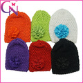 Moda artesanal chapéu crochet infant toddler malha chapéu com flor de cabelo da curva( cnh- 13092421)