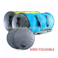 600D Folding round travel duffel bag