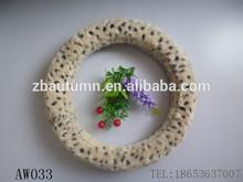 girl fashion leopard grain Velvet Car Steering Wheel Cover