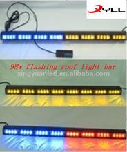 98w Flashing roof lights bar /LED Strobe light bar /emergency police car,fire car led waring flashing light bar