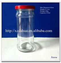 wholesale glass jam jar with tin lids