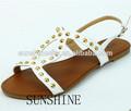 casual de punta abierta sandalia de la señora zapatos de verano