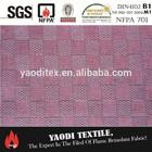 High quality 100% polyester fire retardant jacquard curtain fabric names