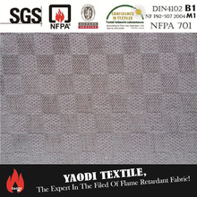 Wholesale 100% polyester fire retardant 3 pass blackout fabric for curtain