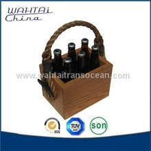 2015 new products wooden portable wine carrier for sale