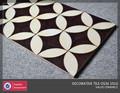 Keramikfliesen mit blumen-design, keramik-wandfliese, dekorplatte
