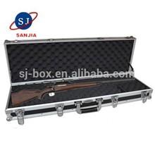Rifle Box Secure Lockable Aluminum Frame Foam Padded Gun Case