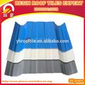 de plástico 3 capa del pvc tejas del techo del azulejo