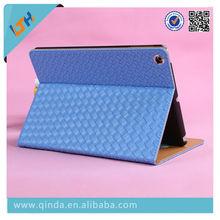 Wholesale Fashion High Qulity Lattice PU Leather Woven Pattern Case For iPad 5