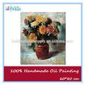 modern çiçek vazosu tuval üzerine yağlı boya oturma odası için