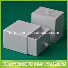 BLF-GB001 cardboard white drawer paper gift box