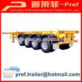 48ft 4 ejes remolque contenedor de chasis para la venta/esquelético remolques de contenedores( 20ft, o 40ft 45ft es opcional)