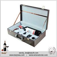 Wholesale Design Unique Bottle Leather Wine Carrier