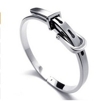 GZ Jewelry Womens open silver bangle bracelets wide silver cuff bracelet stainless steel plain cuff bracelet