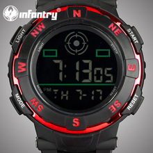 INFANTRY New Arrival Quartz Movement Silicone Digital Military Stop Watch