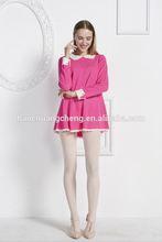 single sacle body and plain knitting sleeves