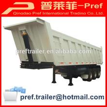 3 axles 80 ton dump trailer/rear tipper trailer/Coal transport trailer with HYVA cylinder