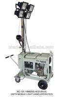 Mobile site light,hand operate 5KW open type diesel generator