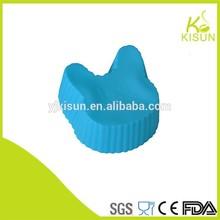 la forma de conejo de silicona del molde de la torta de la taza de galletas de pastelería herramientas