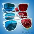 أحمر سماوي البلاستيك نظارات 3d، نظارات 3d المورد، 3d glaase ل3d الأفلام