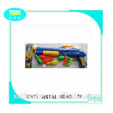 2014 hot selling Plastic ping pong ball shooting gun toy set for kids