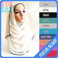 2014 plain maxi viscose muslim latest hijab design